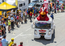 Le Gaulois Vehicle in Alps - Tour de France 2015 Stock Photography