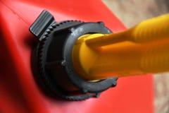 Le gaz rouge peut se fermer  Image libre de droits