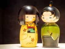 Le geisha et les samouraïs Photographie stock libre de droits