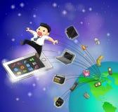 Le generazioni della tecnologia dell'IT sta muovendosi per digiunare (vecto Immagine Stock Libera da Diritti