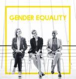 Le genre d'égalité de femme redresse la libération images libres de droits