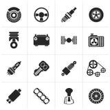 Le genre différent noir de voiture partie des icônes Image stock