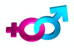 Le genre lié signe 3d Photos libres de droits