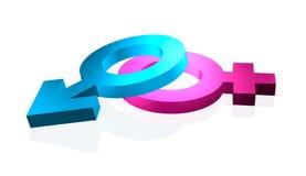 Le genre signe 3d sur le blanc Image libre de droits