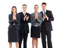 Le gens d'affaires team l'applaudissement photo libre de droits
