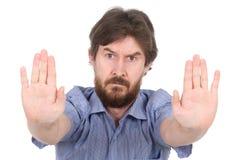 Le gentil homme arrête des mains Photos libres de droits