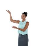 Le gester för affärskvinnadanandehand royaltyfria bilder