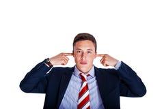 Le gestionnaire avec des oreilles s'est fermé photos stock
