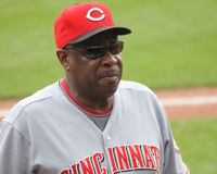 Le gestionnaire Dusty Baker du rouge Photos libres de droits