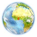 Le Ghana sur terre d'isolement illustration de vecteur