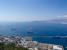 Le Gibraltar donnent sur Photos stock
