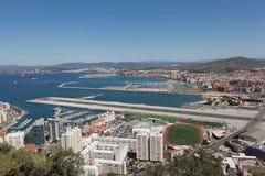 Le Gibraltar. Vue du rocher de Gibraltar. Image libre de droits