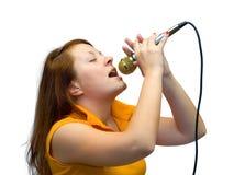 Le giovani donne cantano Fotografia Stock Libera da Diritti