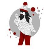 Le gir i röd jeans Arkivfoton