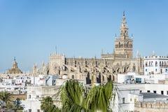 Le Giralda en Séville, Andalousie, Espagne Photos libres de droits