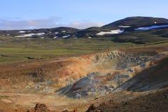 Le gisement de lave de Leirhnjukur Photographie stock