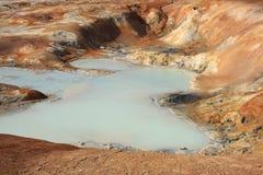Le gisement de lave de Leirhnjukur Images stock