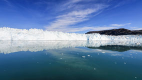 Le glacier d'Eqi au Groenland Photographie stock