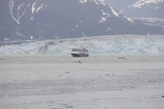 Le glacier de Hubbard, Alsaka, juin, Etats-Unis Photo libre de droits