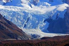 Le glacier de Torre, se ferment en parc national de visibilité directe Gaciares, Patagonia, Argentine images stock