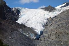 Le glacier de worthington au valdez image libre de droits