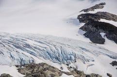 Le glacier et le champ de glace Photographie stock