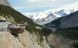 Le glacier Skywalk Images libres de droits