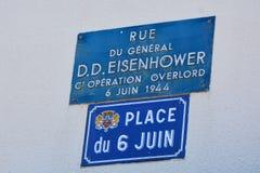 Le glise de ‰ de Sainte-Mère-à était le premier village en Normandie a libéré par l'armée d'Etats-Unis le jour J, le 6 juin 1944 photographie stock