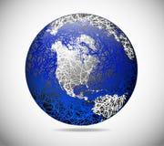 Le globe abstrait illustration stock