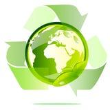 Le globe d'Eco réutilisent Photographie stock libre de droits
