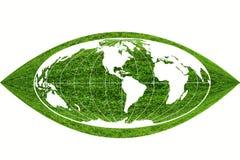 Le globe sur l'herbe Images stock