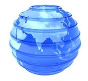 le globe vitreux de la terre 3d s'est orienté en Asie image stock