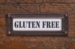Le gluten libèrent l'étiquette Photo libre de droits