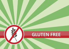 Le gluten libèrent le drapeau Photo stock