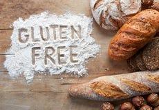 Le gluten libèrent le pain Photo libre de droits