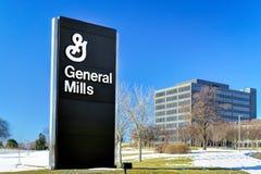 Le Général Mills Corporate Headquarters et signe Images libres de droits