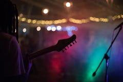 Le goût musical est au néon Photo libre de droits