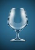 Gobelet en verre pour des boissons d'eau-de-vie fine Photographie stock libre de droits