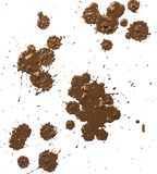 Le gocce di fango spruzza Fotografia Stock Libera da Diritti