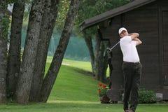 Le golf de Delamontagne GreenVelvet pro-suis, Megeve, 2006 Photos libres de droits