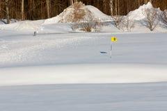 Le golf a lieu hors de saison Images stock