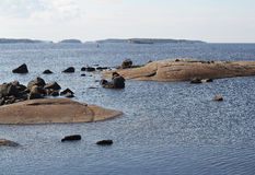Le golfe de Finlande. Photos stock