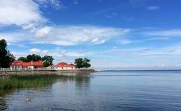 Le Golfe de la Finlande Ciel Eau tranquillité photos libres de droits