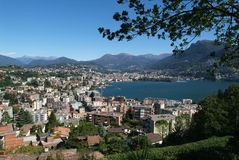 Le golfe de Lugano photos stock