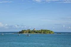 Le Gosier island, Guadeloupe. Island of Le Gosier off Guadeloupe coast stock photos