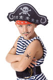 Le gosse s'usant dans le costume de pirate Photographie stock