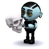 le goth 3d punk considère la mortalité Images libres de droits