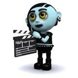 le goth 3d punk fonctionne dans les films Photo libre de droits