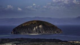 Le Goubet diabeł skała w Lac Goubet, Djibouti Zdjęcie Stock