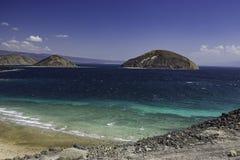 Le Goubet i zatoka Tadjoura krajobraz Zdjęcie Stock